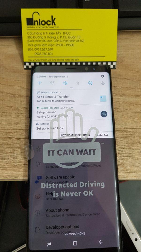 Mở Mạng, Unlock Samsung Galaxy Note 8 N950U AT&T - Unlock mobile