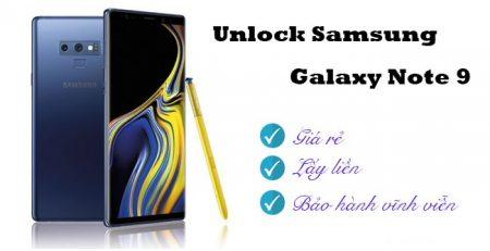 Dịch vụ unlock Samsung Galaxy Note 9